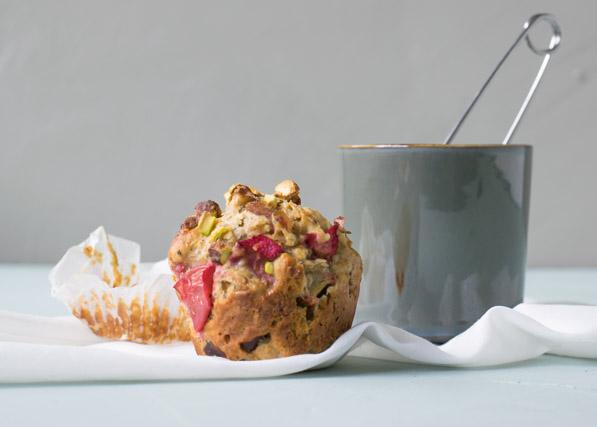 Morgenmadsmuffins Med Rabarber Dadler Og Chiafrø Cathrine Brandt